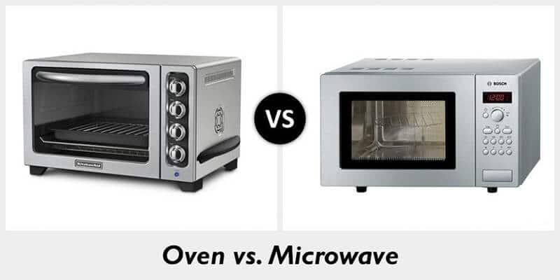 so sánh giữa lò nướng và lò vi sóng như thế nào?